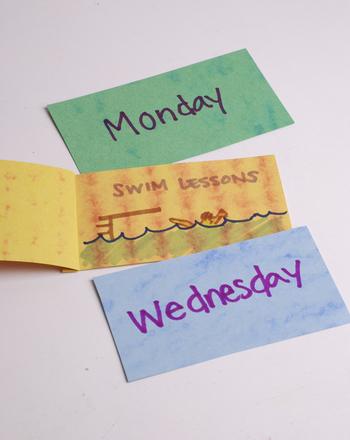 Make Days of the Week Flip Flaps Activity
